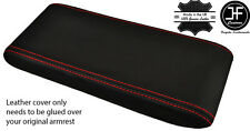 RED STITCHING REAL LEATHER ARMREST LID COVER FITS PORSCHE 924 944 968