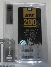 Amanda Nunes Signed UFC 200 2016 Fight VIP Full Ticket BAS Beckett COA Autograph