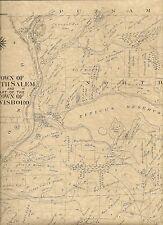 North Salem Purdys Croton Falls Twin Lakes NY 1911 Map w/ Landowners Names Shown