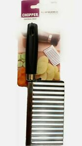 Prima Stainless Steel Wavy Potato Chip Cutter Vegetable Slicer With Grip Handle