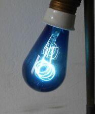 Vintage Bleu Ampoule Filaments de Carbone Rouge Frauenwald 220-225 V Ovp