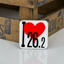 I Love 26.2 - Divertido Regalo para Runner-Marathon Runner Coaster | Runner Regalos