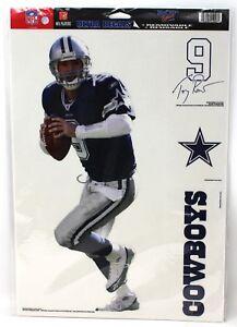 "Dallas Cowboys Tony Romo 9 NFL Ultra Removable Decal Wall Decor 15"" Tall New"