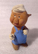 Vintage Rare Rubber ✿ PIG from THREE LITTLE PIGS ✿ Disney Squeeze Doll toy 60´s