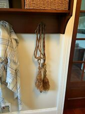 Pair of antique french chateau curtain tiebacks tassels