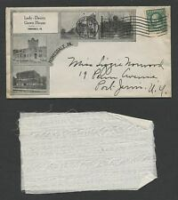 Honesdale PA: 1913 Pictorial Envelope, LADY-DAINTY GOWN HOUSE with Cloth Sample