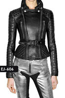 Exclusive Genuine Soft Lambskin Leather Quilted Jacket