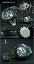 OSCURO horse-cantani cronógrafo hombre reloj Designer Ion Negro CHAPEADO box-pap