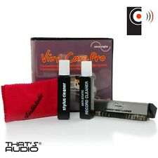 Piatto Girevole & RECORD CLEANING Gift Pack-ANTI-STATICO Spazzola Panno & Stylus Brush