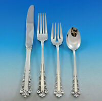 Belle Meade by Lunt Sterling Silver Flatware Set for 12 Service 56 pieces
