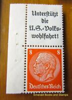 EBS Germany 1936 Hindenburg se-tenant Zusammendruck Michel S131 MNH** MARGIN