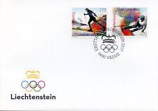 Liechtenstein 2017 FDC Winter Olympics Pyeongchang 2018 2v Cover Sports Stamps