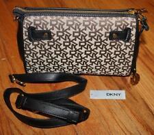 NWT Donna Karan DKNY Dom Heritage Clutch Crossbody Handbag Signature Jacquard