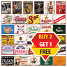 Metal Signs Man Cave Retro Pub Bar Gift Wall Plaque Beer Garage Shed Tin Sign