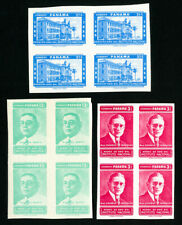 Panama Stamps # 427-9 XF Imperf. Block 4 OG NH