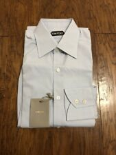 NWT Tom Ford Dress Shirt Sky Blue 38 15 Slim Fit $595