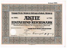 Triumph Werke Nürnberg, Nuremberg 1939, 1000 RM