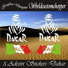 5 ADESIVI STICKERS FUORISTRADA DAKAR SPORT RALLY RACING 4X4 OFF ROAD JEEP