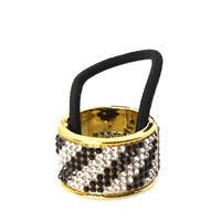 Haarring Haargummi Ring Cleopatra Zopf Scrunchy mit Strass Hair