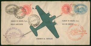 Mayfairstamps Brazil 1937 PANAIR Rio Bello Horizonte Airmail Cover wwp79651