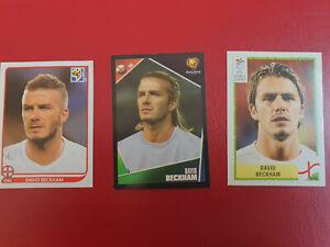 David Beckham panini  2000 , 2004 and 2010