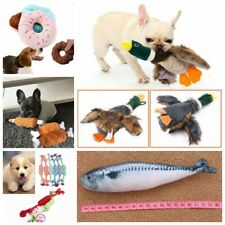 Dog Cat Pet Training Chew Teething Aid Squeaky Sound Plush Play Toy Supplies