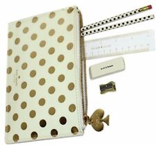 Kate Spade NY NWT Gold Dot Pencil Pouch with Accessories and a Perfect Clutch!