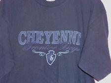 Vintage 90s Cheyenne Frontier Days Rodeo T Shirt Blue XL