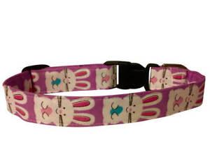 "SPIFFY POOCHES Dog Collar Easter Bunny 1"" wide ~B.O.G.O @ 50% OFF C DESCRIPTION~"