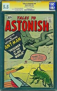 TALES TO ASTONISH 41 CGC 5.5 SS SIGNED BY STAN LEE  Kirby Ditko 1963 Avengers