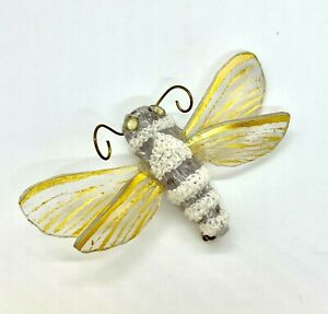 Signed FABRICE Paris  Art Deco Inspired Bumble Bee Brooch