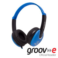 GROOV-E KIDZ DJ STYLE STEREO OVER EAR HEADPHONES FOR KIDS - BLUE/BLACK - GV590BB