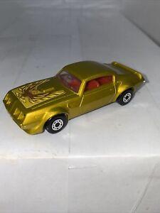 1979 Matchbox Superfast Lesney 16 Pontiac Gold Firebird Trans Am England Mint