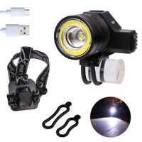 Zoom T6 + COB LED Front Bike Light Cycling Bicycle Head Lamp USB Rechargeable