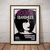 Siouxsie and the Banshees 1978 Concert Three Print Options or Framed Poster NEW