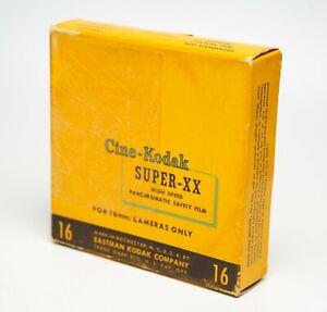 Cine-Kodak Super-XX Panchromatic Safety Film 16mm Magazine 1954 100ft B&W BW