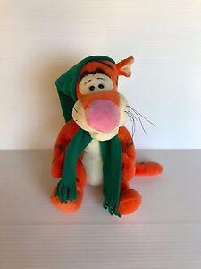 TIGGER WITH HAT, stuffed Tigger, stuffed Disney toy, Winter Tigger, GUND plush