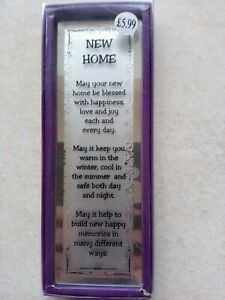 New Home Plaque - Boxed