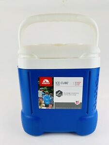 Igloo Ice Cube 12 Quart 11 Liter Blue Cube Square Cooler 14-Can Capacity Unused