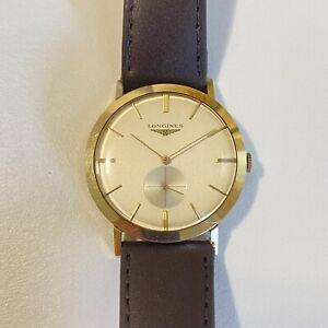 LONGINES Vintage 14K Yellow Gold Men's Dress Watch Super Clean
