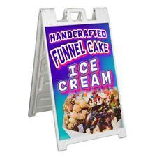 Funnel Cake Ice Cream Signicade 24x36 Aframe Plastic Sidewalk Sign Carnival Food