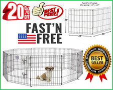 New listing 24H-In Exercise Pens Universal Pets Playpen 2-Panel Extension Kit for S-Dog