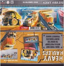 Australia Stamps Booklet 2008 Heavy Haulers Mining Truck Train Ship Transport