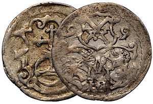 GERMANY 3 Pfenning 1599 Saxony Silver Coin #7845