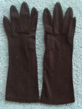 Vintage Gloves | Brown | 11 inches | Stretch