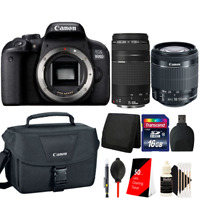 Canon EOS 800D / T7i 24.2MP DSLR Camera with 18-55mm, 75-300mm and Canon Case