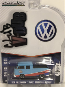 1976 Volkswagen T2 Type 2 Double Cab Pick Up STP 1:64 Greenlight 29960E