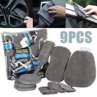 9pcs/set Of Car Wash Cleaning Brush Microfiber Car Detailing Washing Tools Kit