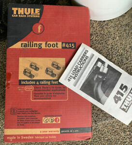 NEW - 4 Thule 415 Railing Foot Pack Towers - Complete - w/ 4 Load Bar End Caps