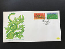 Hong Kong 1977 Chinese New Year of the Snake stamps on FDC Unaddressed